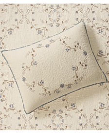 Martha Stewart Collection Westminster Vines Cotton Standard Sham, Created for Macy's