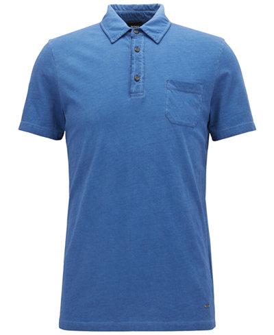 BOSS Men's Regular/Classic-Fit Garment-Dyed Cotton Polo