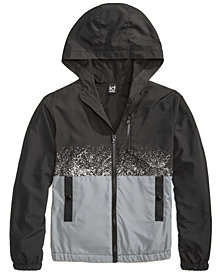 Ideology Splatter Hooded Jacket, Big Boys, Created for Macy's