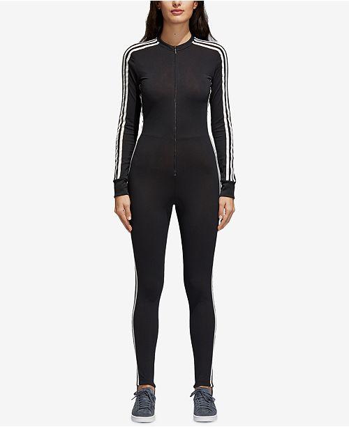 fc2eec8349a adidas adicolor Jumpsuit   Reviews - Pants   Capris - Women - Macy s