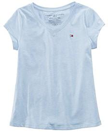 Big Girls Cotton V-Neck T-Shirt