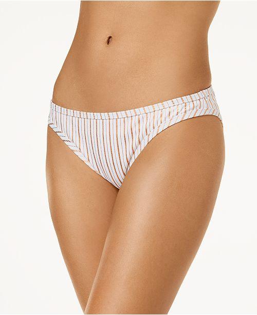 5d1968e347 Hula Honey. Junior s Oceanfront Striped Bikini Bottoms