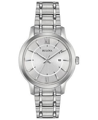 Bulova Women's Stainless Steel Bracelet Watch 32mm, Created for Macy's
