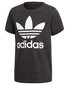 adidas Originals adicolor Logo-Print Cotton T-Shirt, Big Boys