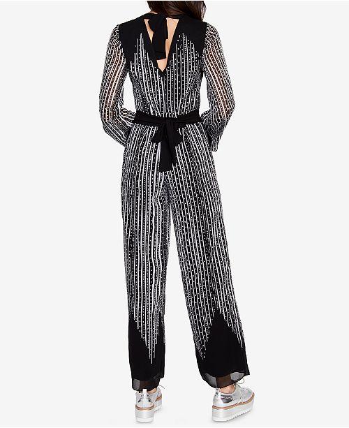 c1d681d6cbf RACHEL Rachel Roy Printed Tie-Back Jumpsuit