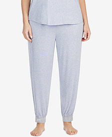 DKNY Plus Size Striped Cropped Pajama Pants