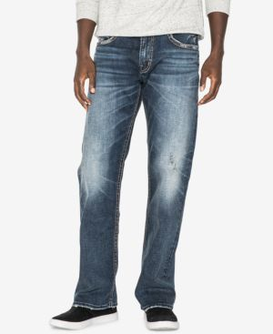 Silver Jeans Co. Men's Zac Relaxed Straight Fit Stretch Jeans 5770232