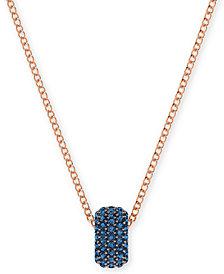 Swarovski Pavé Crystal Round Pendant Necklace