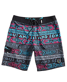 "Maui and Sons Men's Big Bite Stretch 20"" Board Shorts"