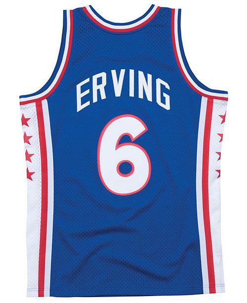 best website 0b33e d48aa ... Mitchell   Ness Men s Julius Erving Philadelphia 76ers Hardwood Classic  Swingman ...