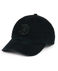 '47 Brand Atlanta Hawks Black on Black CLEAN UP Cap