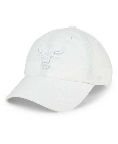 '47 Brand Chicago Bulls White CLEAN UP Cap