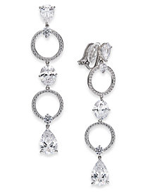 Danori Silver-Tone Pavé Ring & Crystal Drop Earrings, Created for Macy's