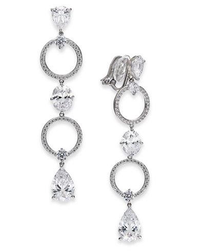 Danori Silver-Tone Pavé Ring & Crystal Drop Earrings, Created for Macy's