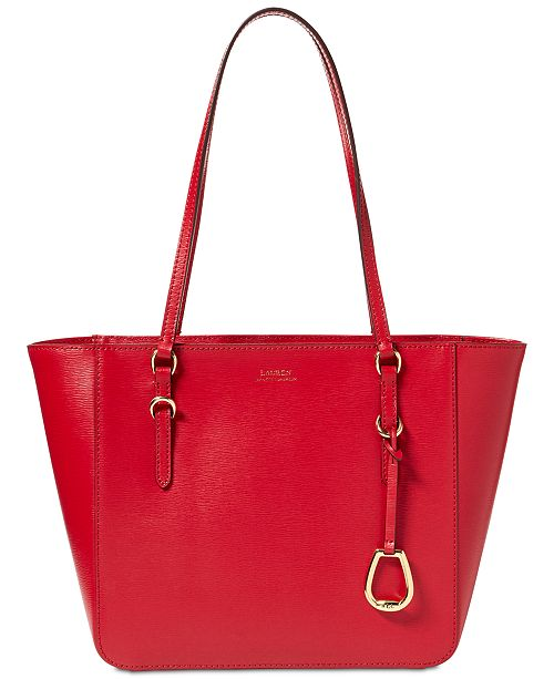 f03be100f9 Lauren Ralph Lauren Bennington Leather Shopper   Reviews - Handbags ...