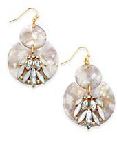 I.N.C. Gold-Tone Resin Stone & Crystal Drop Earrings, Created for Macy's