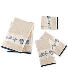 Cotton 6-Pc. Embroidered Bayside Jacquard Towel Set