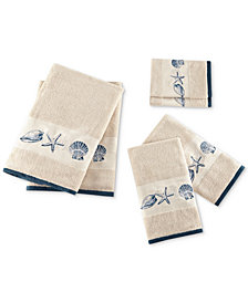 Madison Park Cotton 6-Pc. Embroidered Bayside Jacquard Towel Set