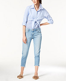 Joe's Jeans The Smith Crop w/ Shredded Hem Jeans