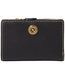 Lauren Ralph Lauren Compact Pebbled Leather Wallet