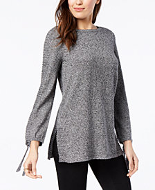 Style & Co Petite Ribbed-Knit Tunic Sweater, Created for Macy's