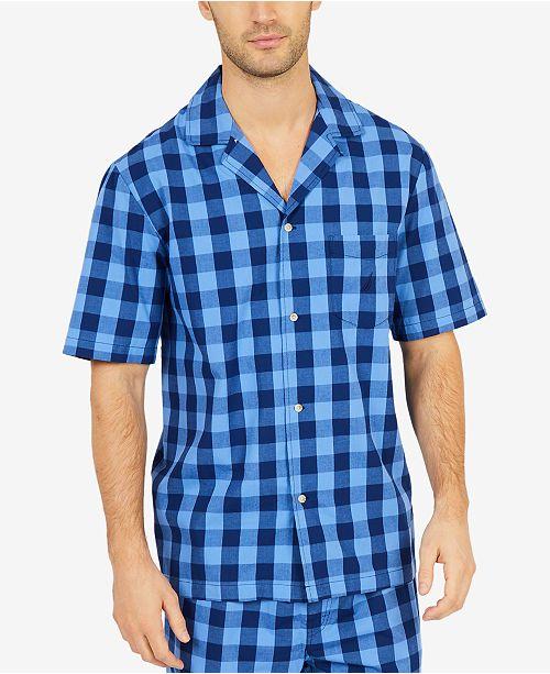 Nautica Men's Buffalo Plaid Short-Sleeve Cotton Pajama Shirt
