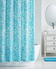 "LAST ACT! Charter Club 72"" x 72"" Paisley-Print Shower Curtain, Created for Macy's"