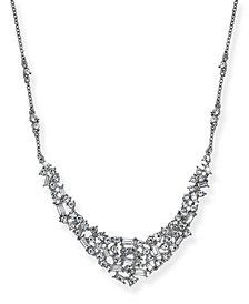 "I.N.C. Silver-Tone Crystal Crystal Cluster Collar Necklace, 16"" + 3"" extender, Created for Macy's"