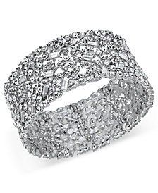 I.N.C. Wide Crystal Cluster Stretch Bracelet, Created for Macy's