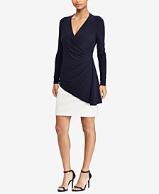 Lauren Ralph Lauren Layered-Look Slim Fit Dress