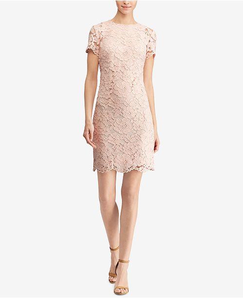 4244d33d7b6 Lauren Ralph Lauren Lace Sheath Dress & Reviews - Dresses ...