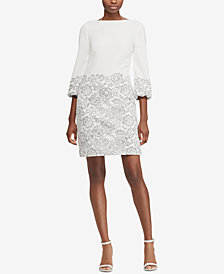 Lauren Ralph Lauren Lace-Overlay Sheath Dress, Regular & Petite Sizes