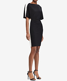 Lauren Ralph Lauren Petite Colorblocked Flutter-Sleeve Dress