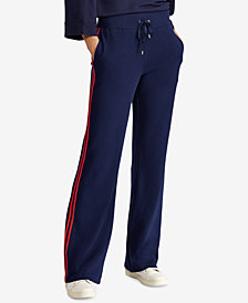 Lauren Ralph Lauren Striped Cotton Track Pants