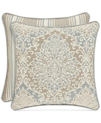 """Romano Ice Blue 20"""" Square Decorative Pillow"""