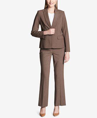Calvin Klein Melange Peak Collar Blazer Jackets Women Macy S