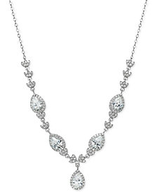 Giani Bernini Cubic Zirconia Teardrop Statement Necklace in Sterling Silver, Created for Macy's