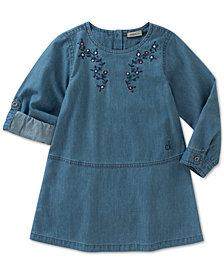 Calvin Klein Embroidered Denim Dress, Baby Girls