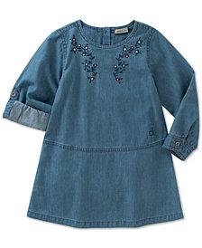 Calvin Klein Embroidered Denim Dress, Baby Girls
