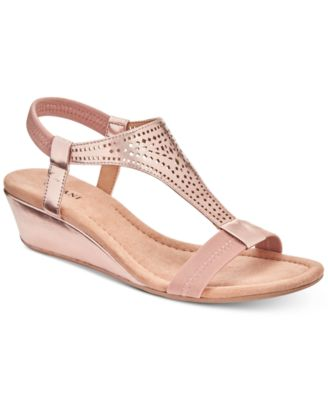 Alfani Womens Step N Flex Vacanzaa Wedge Sandals Created for Macys Womens Shoes