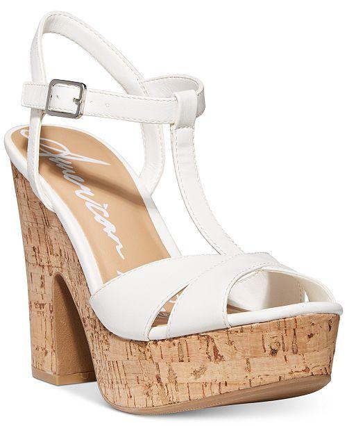 American Rag Jamie T-Strap Platform Dress Sandals, Created for Macy's
