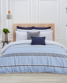 Lacoste Home Vence Blue 2-Pc. Twin/Twin XL Comforter Set