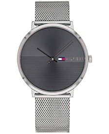 Men's Stainless Steel Mesh Bracelet Watch 40mm, Created for Macy's