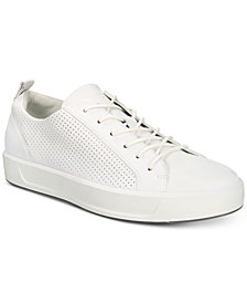Ecco Men's Soft 8 Perforated Lace-Up Sneakers
