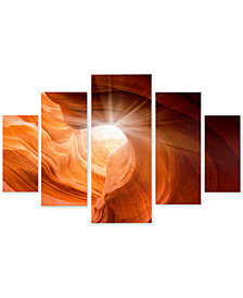 "'Smooth II' by Moises Levy 34""x 58"" Multi-Panel Canvas Print Set"