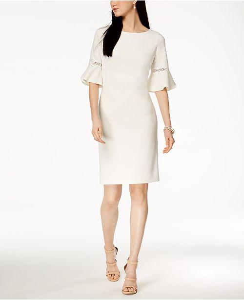 499e803936d Suite Bebe Jessica Howard Bell-Sleeve Sheath Dress   Reviews ...