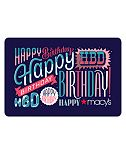 Happy Birthday E-Gift Card