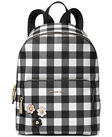 MICHAEL Michael Kors Gingham Large Backpack, Created for Macy's