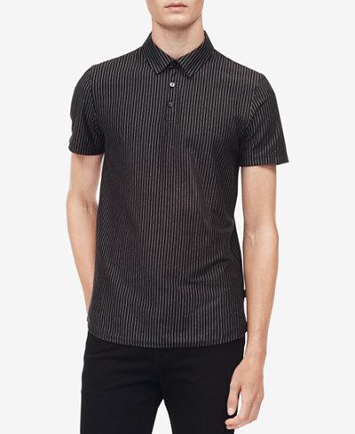 Calvin Klein Men's Vertical Stripe Polo