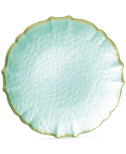 VIETRI Pastel Glass Collection Service Plate/Charger